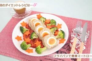 ギャル曽根のダイエットレシピ 野菜たっぷり!フライパンで簡単ミートローフ