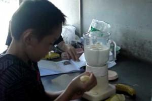 バナナジュースの作り方 ダイエットレシピ ヘルシー 簡単 朝食