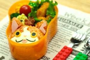 キャラ弁レシピ:妖怪ウォッチ ジバニャンの作り方 yo-kai watch bento(kyaraben) recipe