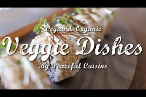 すし酢も自家製、よりヘルシーな選択を!簡単ベジ巻き寿司の作り方 | Veggie Dishes by Peaceful Cuisine