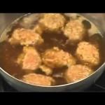 かぼちゃと鶏つくねのあっさり煮   【野菜のおかず:レシピ大百科】