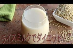 ライスミルク ダイエットにもライスミルクが、話題のライスミルクの特徴とは?