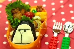 キャラ弁レシピ:エネゴリくんの作り方 ENEOS enegori bento(kyaraben) recipe