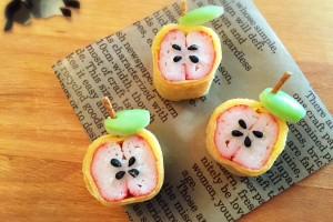How to make cute Apples for Kyaraben! かわいいりんごの作り方☆ by obento4kids