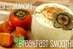 Persimmon Breakfast Smoothie | 朝ごはんに!柿のスムージー