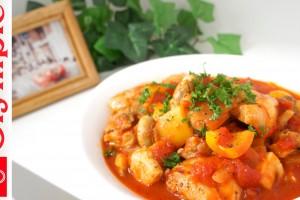 オリンピックの超簡単レシピ 鶏肉のトマト煮込みの作り方