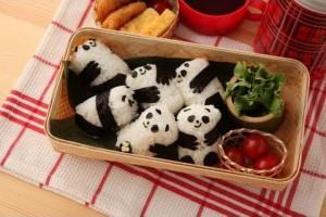 【キャラ弁】パンダのあかちゃんおにぎり弁当の作り方 How to make Panda Baby