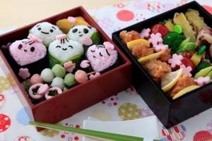 【キャラ弁】お花見弁当の作り方 [Kyaraben]How to make Hanami Bento